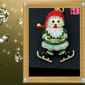 Betsey Johnson Santa Necklace